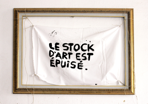 le stock d'art